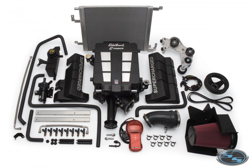E-Force 2005-10 Chrysler 6.1L HEMI Complete Supercharger Kit - Click Image to Close